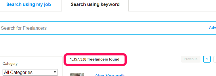 Number of oDesk Freelancers